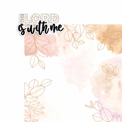 Prayer: The Lord is with me 2 Piece Print and Cut Kit