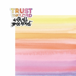 Prayer: Trust the Lord 2 Piece Print and Cut Kit