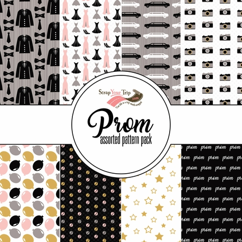 Prom Assorted 12 x 12 Paper Pack