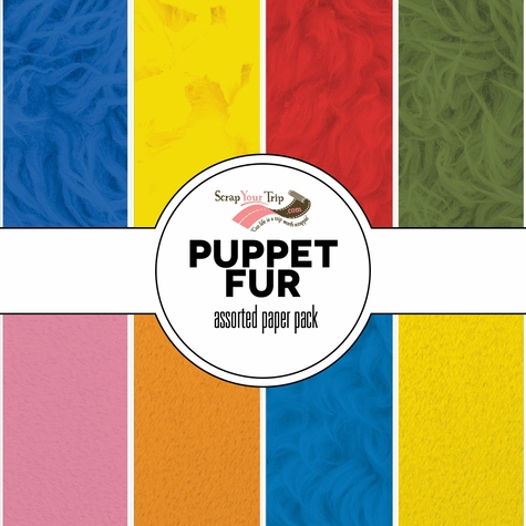 Puppet Fur Assorted 12 x 12 Paper Pack