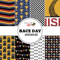Race Day 12 x 12 Paper Pack