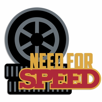Race Day: Need for Speed Laser Die Cut