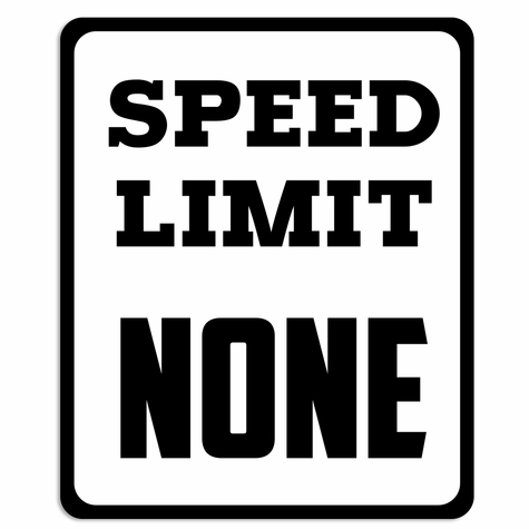 Race Day: Speed Limit Laser Die Cut