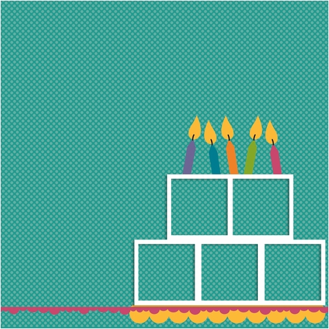 Rainbow Sprinkles: Cake Frame 2 Piece Laser Die Cut Kit