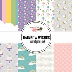 Rainbow Wishes Assorted 12 x 12 Paper Pack