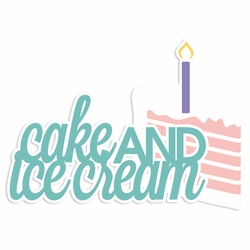 Rainbow Wishes: Cake and Ice cream Laser Die Cut