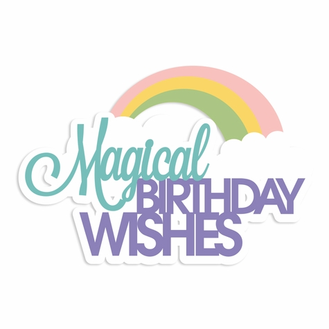 Rainbow Wishes: Magical Wishes Laser Die Cut