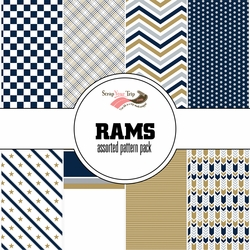 Rams Assorted 12 x 12 Paper Pack