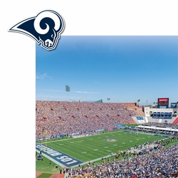 Rams: Stadium and Logo 2 Piece Laser Die Cut Kit