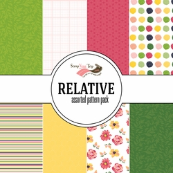 Relative Assorted 12 x 12 Paper Pack