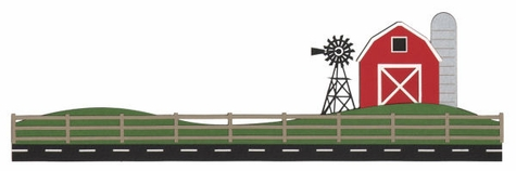 Road and Farm Border Die Cut