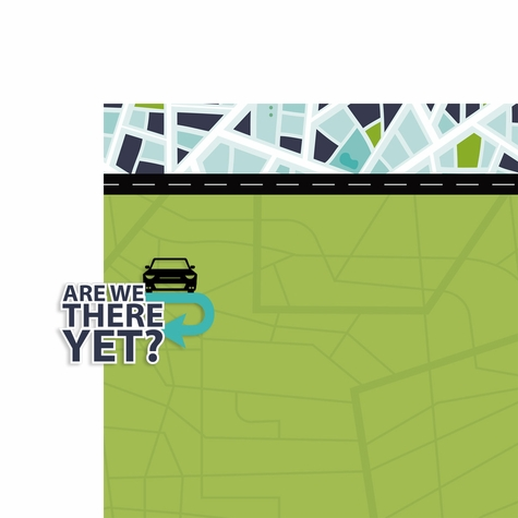 Road Trip: Are we there yet 2 Piece Laser Die Cut Kit