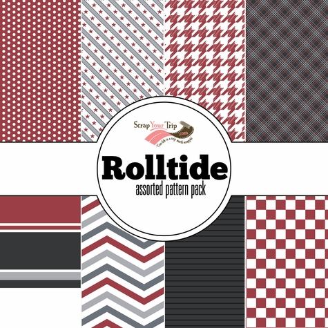 Rolltide Assorted 12 x 12 Paper Pack