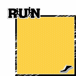 Run: Run Word 2 Piece Laser Die Cut Kit