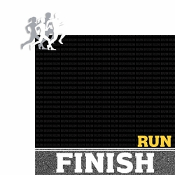 Run: Runners 2 Piece Laser Die Cut Kit