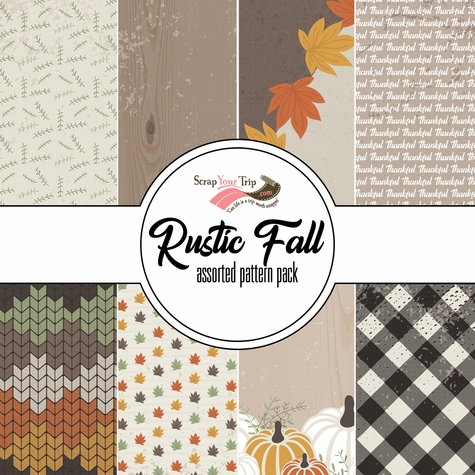 Rustic Fall Assorted 12 x 12 Paper Pack