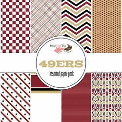 San Francisco 49ers Pattern 12 x 12 Paper Pack