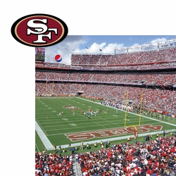 San Francisco 49ers: Stadium and Logo 2 Piece Laser Die Cut Kit