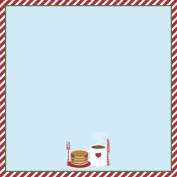 Santa: Breakfast with Santa 12 x 12 Paper