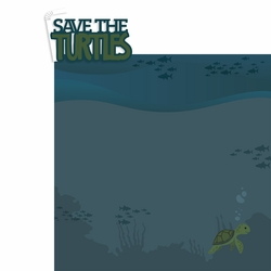 Save the turtles 2 Piece Laser Die Cut Kit