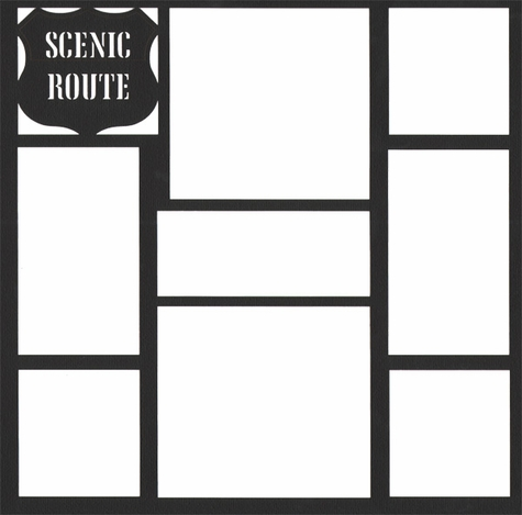 Scenic Route 12 x 12 Overlay Laser Die Cut