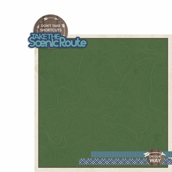 Scenic Route 2 Piece Print and Cut Kit