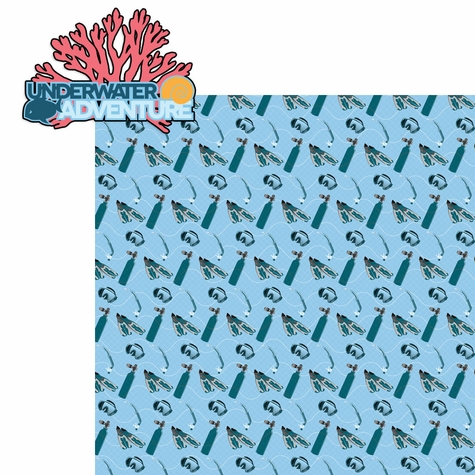 Scuba Diving: Underwater Adventure 2 Piece Laser Die Cut Kit
