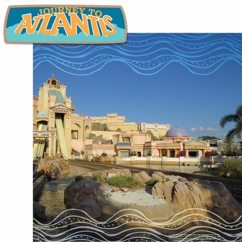 Sea The World: Atlantis 2 Piece Laser Die Cut Kit