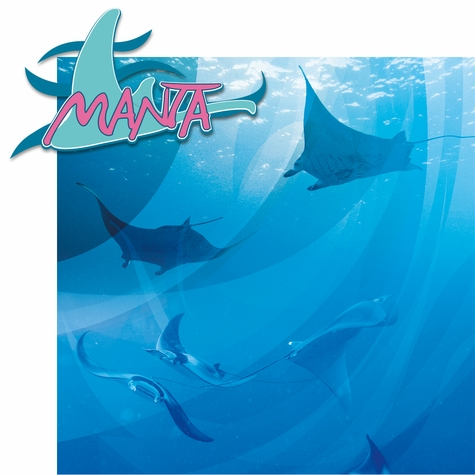Sea The World: Manta 2 Piece Laser Die Cut Kit