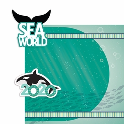 Sea World 2 Piece Print and Cut Kit