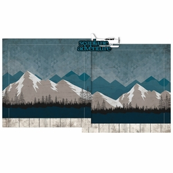 Seaplane Adventure Double Page Layout Kit