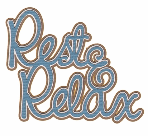 Seaside: Rest and Relax Laser Die Cut