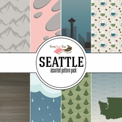 Seattle Assorted 12 x 12 Paper Pack