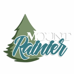 Seattle: Mount Rainier Laser Die Cut