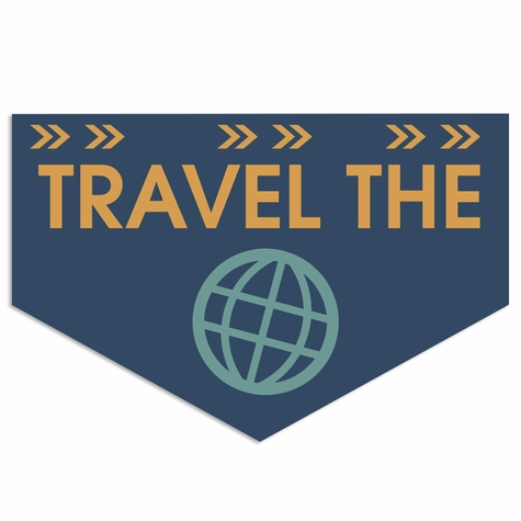 See the World: Travel the World Laser Die Cut