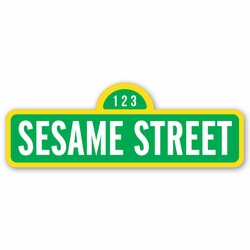 Sesame Street: Sign Laser Die Cut