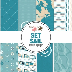 Set Sail Assorted 12 x 12 Paper Pack