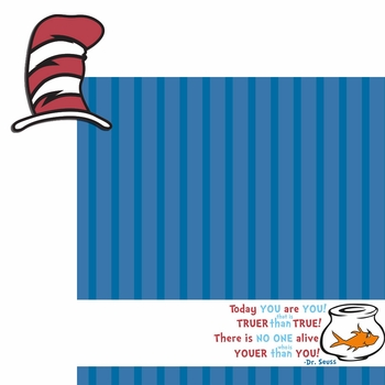 Seuss:Today you are 2 Piece Laser Die Cut Kit