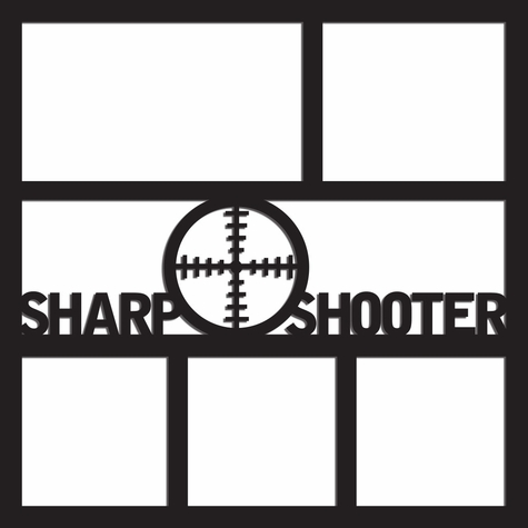 Sharp Shooter 12 x 12 Overlay Laser Die Cut