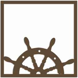 Ship Wheel 12 x 12 Overlay Laser Die Cut