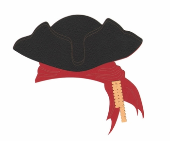 Shiver Me Timbers: Pirate Hat Laser Die Cut