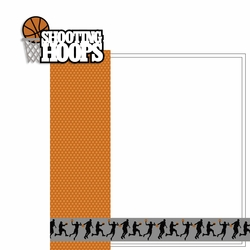 Shooting hoops 2 Piece Laser Die Cut Kit