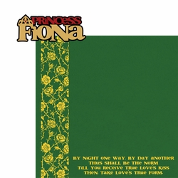 Shrek: Princess Fiona 2 Piece Laser Die Cut Kit