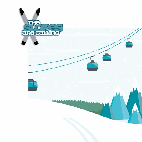 Ski: Slopes calling 2 Piece Laser Die Cut Kit