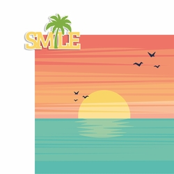 Smile Palm Tree 2 Piece Laser Die Cut Kit