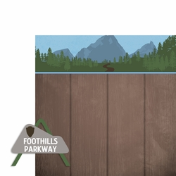Smoky Mountains: Foothills Parkway 2 Piece Laser Die Cut Kit