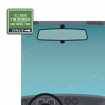 Snarky Sayings: Bored 2 Piece Laser Die Cut Kit
