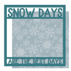 Snow Day 12 x 12 Overlay Quick Page Laser Die Cut