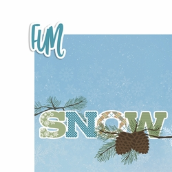 Snow Fun 2 Piece Laser Die Cut Kit