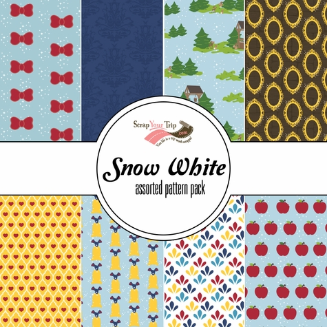 Snow White Assorted 12 x 12 Paper Pack